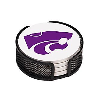 Thirstystone® Kansas State University 4-pc. Coaster Set with Holder