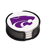 Thirstystone® Kansas State University 4-pc. Coaster Set with Holder
