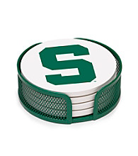 Thirstystone® Michigan State University 4-pc. Coaster Set with Holder