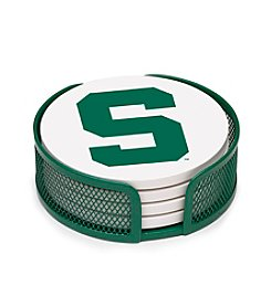 NCAA® Michigan State University 4-pc. Coaster Set with Holder