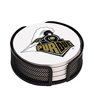 Thirstystone® Purdue University 4-pc. Coaster Set with Holder