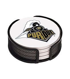 NCAA® Purdue University 4-pc. Coaster Set with Holder