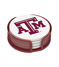 Thirstystone® Texas A&M 4-pc. Coaster Set with Holder