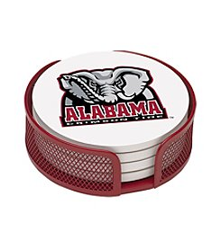 NCAA® University of Alabama 4-pc. Coaster Set with Holder