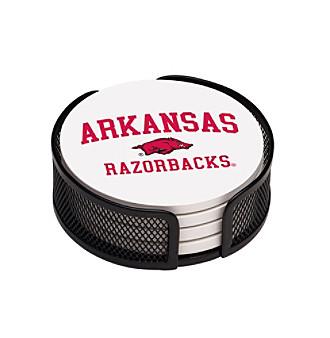 Thirstystone® University of Arkansas 4-pc. Coaster Set with Holder