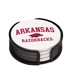 NCAA® University of Arkansas 4-pc. Coaster Set with Holder
