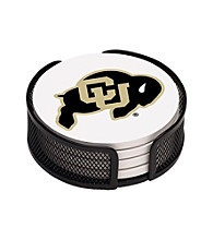 Thirstystone® University of Colorado 4-pc. Coaster Set with Holder