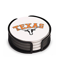 Thirstystone® University of Texas 4-pc. Coaster Set with Holder