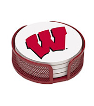 Thirstystone® University of Wisconsin 4-pc. Coaster Set with Holder