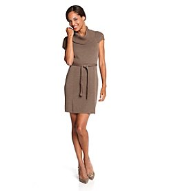 Calvin Klein Oatmeal Tan Turtleneck Sweater Dress