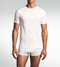 Calvin Klein Men's 3-Pack Slim Fit Crew T-Shirt - White