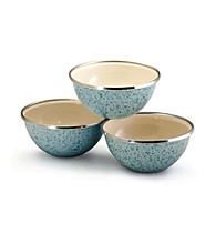 Paula Deen® Blue Signature Enamel on Steel 3-pc. Prep Bowl Set