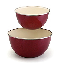 Paula Deen® Red Signature Enamel on Steel 2-pc. Mixing Set