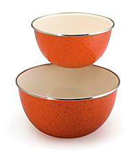 Paula Deen® Orange Signature Enamel on Steel 2-pc. Mixing Set