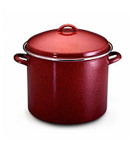 Paula Deen® Red Signature Enamel on Steel 16-qt. Covered Stockpot