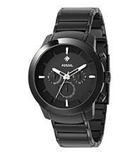 Fossil® Men's '54 Diamond Chronograph Black Plated Watch
