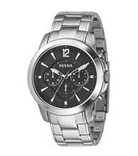 Fossil® Men's '54 Chronograph Black Dial Watch