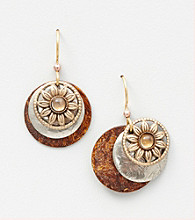 Silver Forest® Layered with Rounds and Flower Earring