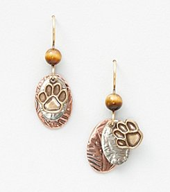 Silver Forest® Paw Print Layered Earrings