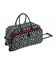 IT Luggage Jungle Giraffe Microfiber Wheeled Duffel