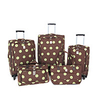 Jenni Chan Quattro 360-degree Luggage Collection - Dots