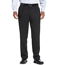 Oak Hill® Men's Big & Tall Continuous Comfort Suit Separate Pants - Charcoal
