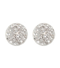 Athra Clear Crystal Half Ball Earring