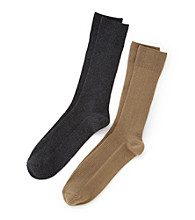 Kenneth Roberts Platinum® Pima Cotton Small Rib Socks