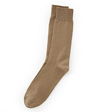 Kenneth Roberts Platinum® Pima Cotton Flat Rib Socks - Khaki