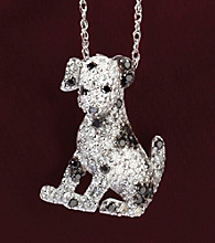 10K White Gold .33 ct. t.w. Black and White Diamond Dalmatian Pendant