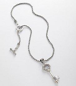Effy® Sterling Silver and 18K Gold Skeleton Key Pendant