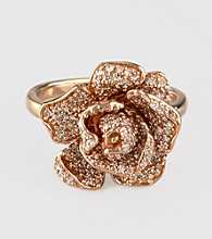 Effy® 14K Rose Gold .64 ct. t.w. Diamond Flower Ring