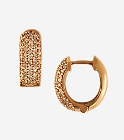 Effy® Pave Rose Collection 14K Rose Gold .53 ct.t.w. Diamond Huggie Hoop Earrings