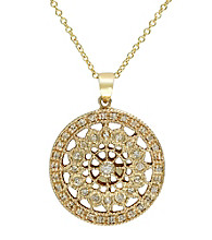 Effy® 14K Gold .25 ct. t.w. Diamond Filigree Pendant
