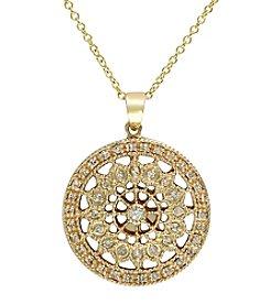 Effy® 14K Gold .25 ct. t.w. Diamond Filigree Pendant