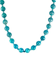 Effy® Aquamarine Beads with 14K Gold Clasp Necklace