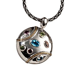 Effy® Sterling Silver and 18K Gold Enamel Medallion