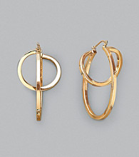 Sterling Silver and 14K Gold Eclipse Hoops