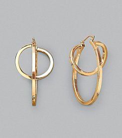 Sterling Silver and 14K Gold Eclipse Hoop Earrings