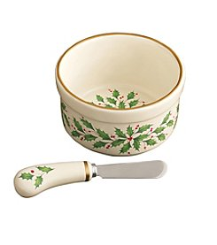 Lenox® Holiday Dip Bowl with Spreader