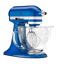 KitchenAid® Artisan® Design 5-Qt. Glass Bowl Stand Mixer + Free Food Grinder Attachment