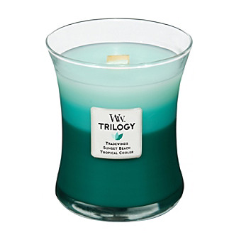 Product WoodWick Trilogy Ocean Escape Layered Candle by Virginia Candle Company from carsons.com