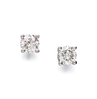 14K White Gold .33 ct. t.w. Diamond Stud Earring