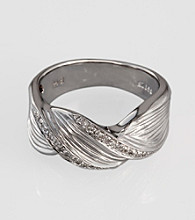 Effy® Sterling Silver .15 ct. t.w. Diamond Band Ring