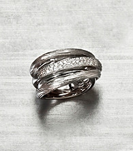 Effy® Sterling Silver .34 ct. t.w. Diamond Band Ring