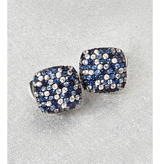 Effy® Sterling Silver Blue Sapphire Square Earring