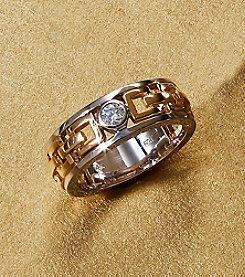 Effy® Men's 14K Yellow and White Gold .20 ct. t.w. Diamond Ring