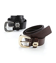MICHAEL Michael Kors® Leather Cutout Logo Belt