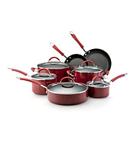 KitchenAid® Red Porcelain Nonstick 12-pc. Cookware Set