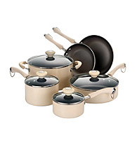 Paula Deen® Oatmeal Traditional Porcelain 10-pc. Cookware Set